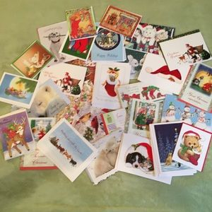 Christmas greeting cards with envelopes bundle